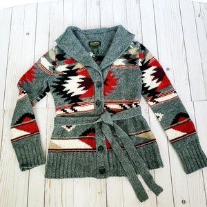 Eddie Bauer Wool Shawl Collar Cardigan size small